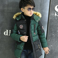4-12 Ydegree русская зима верхняя одежда детская одежда зима Водонепроницаемый дети одежда мальчиков ветровки куртки подростки вниз пальто
