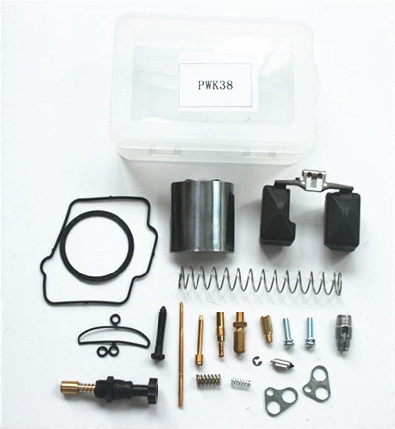 Moto Kit De Réparation 38 MM pour PWK KEIHIN OKO KOSO Carburateur Carburador Universel PWK38 Kit De Réparation De Rechange Jets Ensembles Un Pack