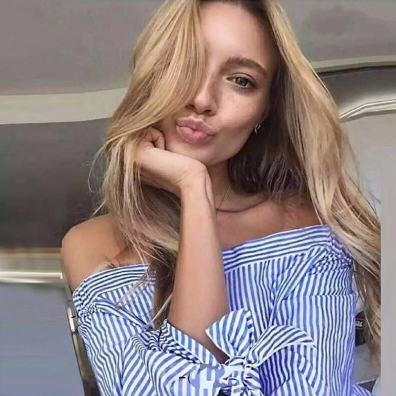 HTB136oqOVXXXXc XFXXq6xXFXXXY - Long Sleeve Casual Tops Shirts Blue White Striped Party Blusas