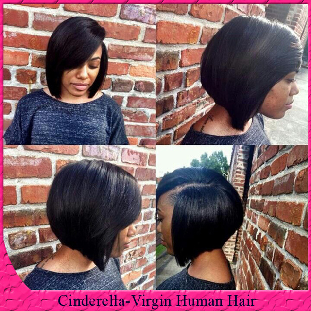 Layered Bob Cut Style Short Lace Front Wig With Baby Hair Glueless Brazilian