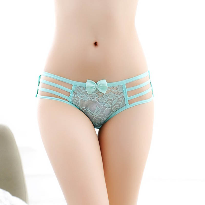 Buy sexy Lingerie bandage g string thongs women underwear briefs lace transparent g-string ropa bragas tangas calcinhas knickers