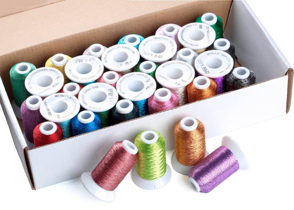 Simthread Metallic Embroidery Machine Thread Non-duplicated 32 - Өнер, қолөнер және тігін - фото 3