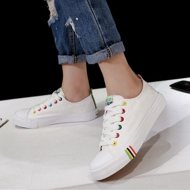 Обувь Женщина Женщины Белые туфли Мода Шнурки Квартиры Мокасины Поскользнуться На женщин Плоские Туфли Sapato женщина для w011