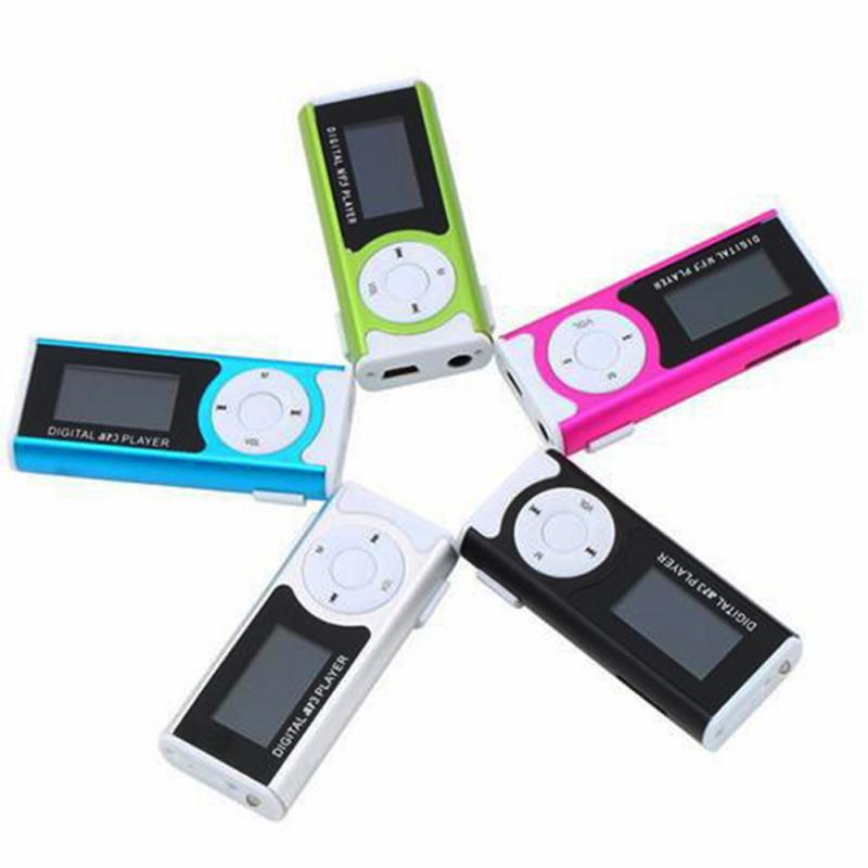 Mini LCD Display MP3 Player Music Player Clip Type Portable MP3  With Speaker Function  Support TF Card Flashlight Function