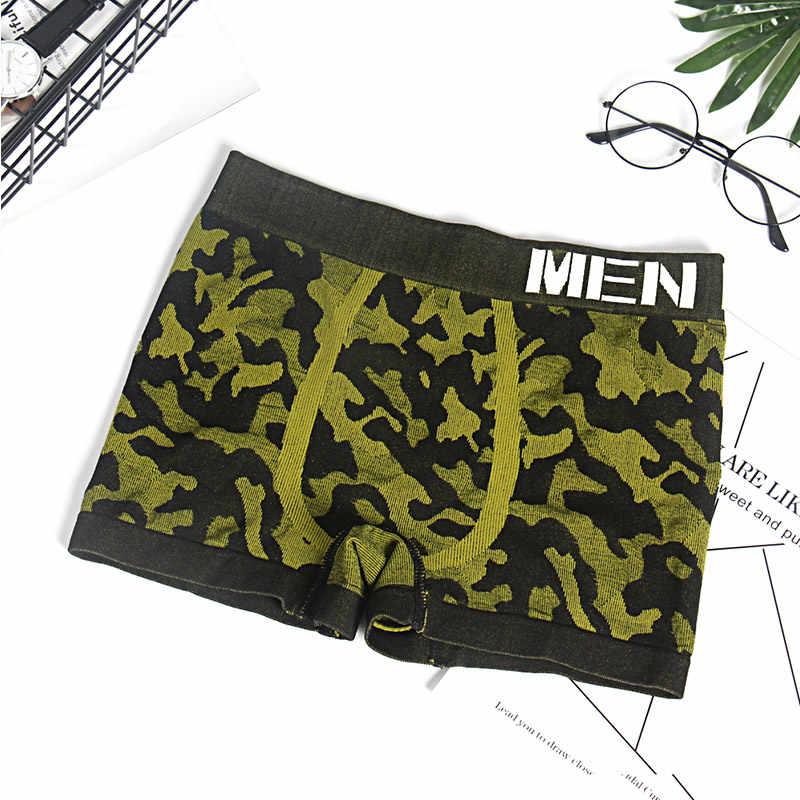 Männer Unterwäsche Boxer Shorts Sexy männer Unterwäsche Boxer Höschen Nahtlose Dessous Camouflage Unterhose Unter Tragen Bikini M0039