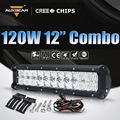 "Auxbeam 12"" 120W Cree Chips 5D Lens Led Work Light Bar Combo Beam Offroad Light for ATV SUV RZR 4WD 4X4 Boat Truck Car Headlight"