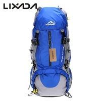 Lixada 50L Camping Bags Waterproof Outdoor Sport Hiking Trekking Travel Backpack Pack Mountaineering Knapsack with Rain Cover