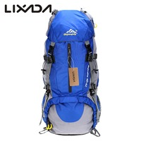 Lixada 50L Camping Bags Waterproof Outdoor Sport Hiking Trekking Travel Backpack Pack Mountaineering Knapsack with Rain Cover