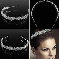 1 pc Women Summer Bride Headband Rhinestone Hairband Wedding Party Prom Princess Headpiece Headband Hair Accessories