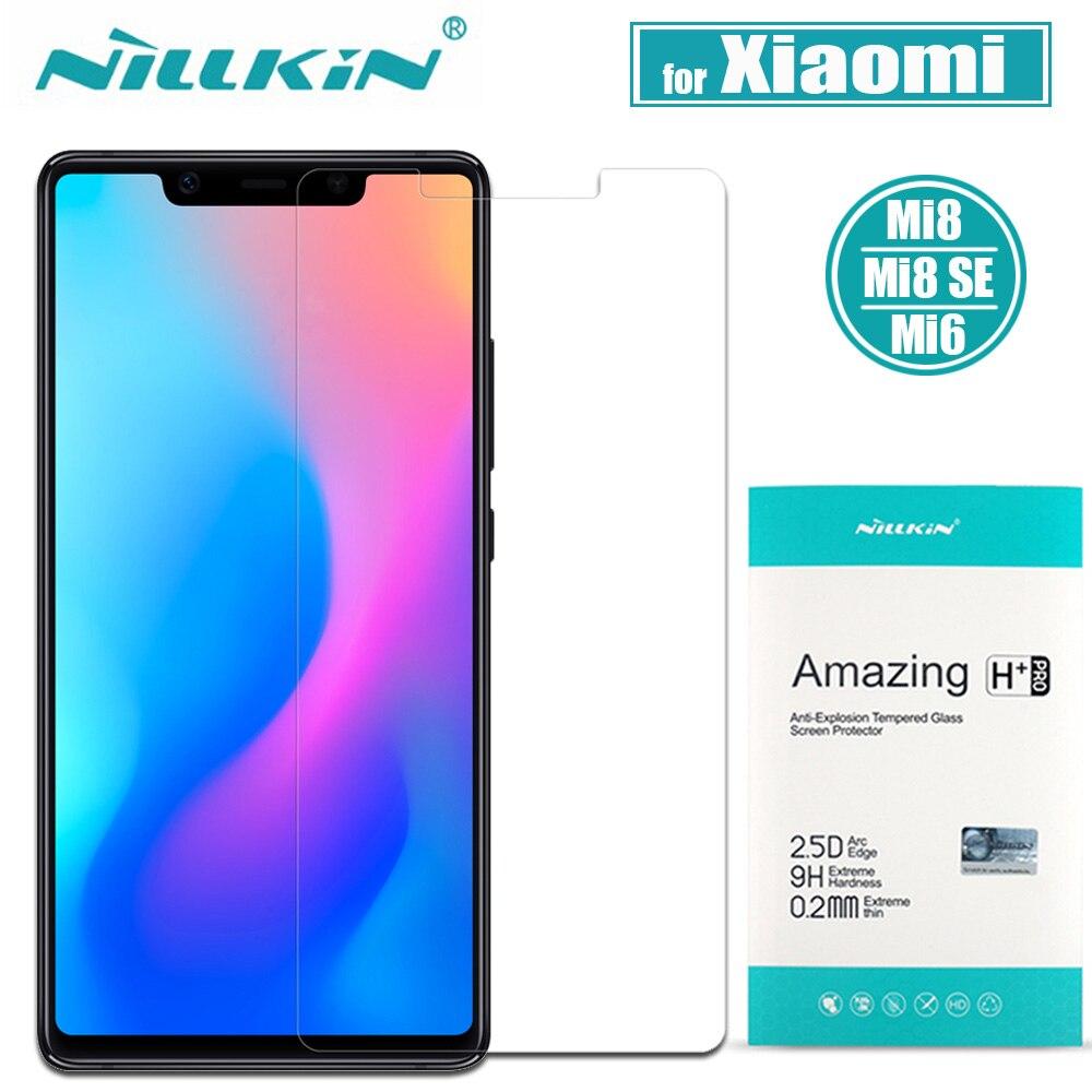 Xiaomi Mi 8 Gehärtetem Glas Xiaomi Mi 8 SE Displayschutz Nillkin erstaunlich H Klarglas für Xiaomi Mi8 SE Mi 6 Mi6 Flim Nilkin