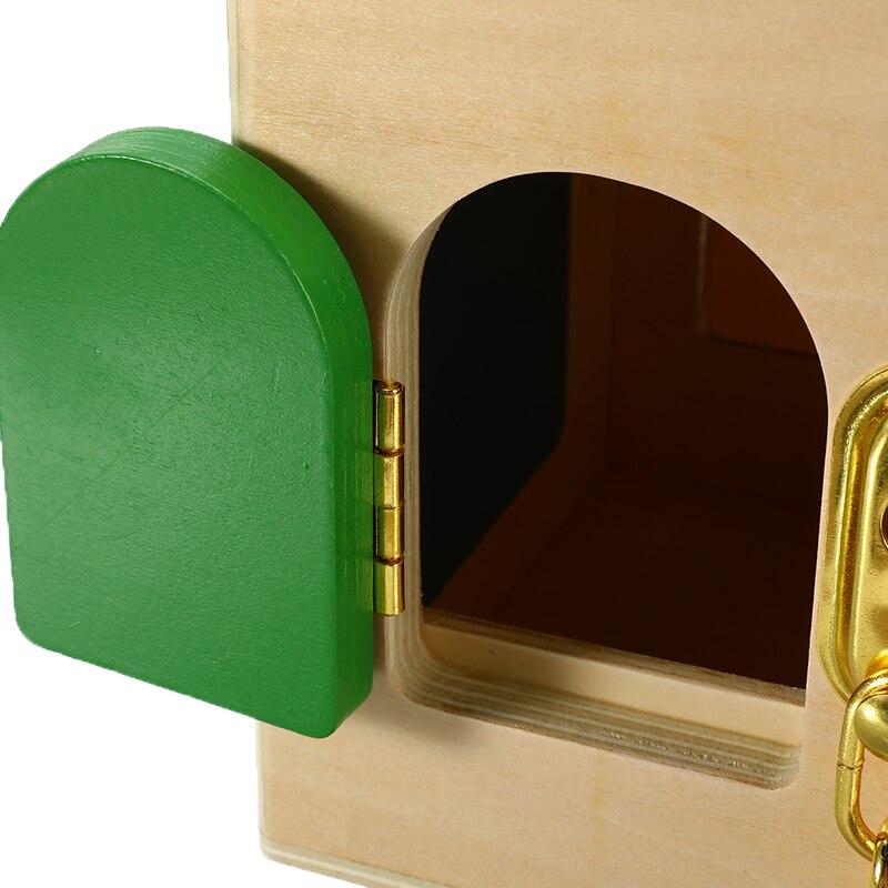 Montessori en bois pour enfants petite boîte de verrouillage matériaux pratiques éducation de la petite enfance petite boîte de verrouillage bambin jouets de déverrouillage - 6