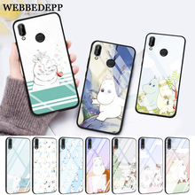 WEBBEDEPP Hippo Cute animal cartoon Protective Glass Case for Huawei P10 lite P20 Pro P30 P Smart honor 7A 8X 9 10 Y6 Mate 20