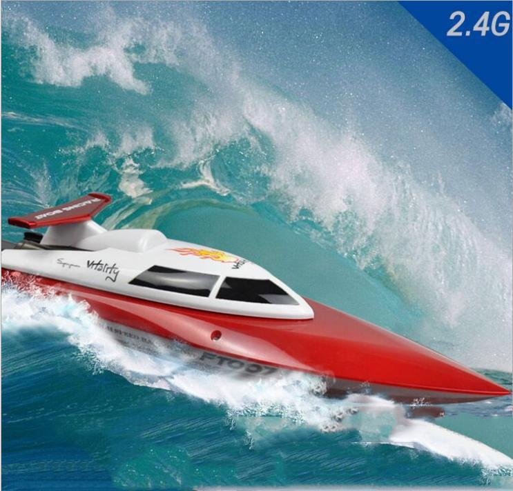 22015 New product  FT007 RC boats 2.4G RC boat rc toys 4CH speedboat Water Cooling High Speed Yellow and red aluminum water cool flange fits 26 29cc qj zenoah rcmk cy gas engine for rc boat