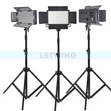 Yellow Version Godox 1500W 3X LED 500W Photo Studio Video Continuous Light Kit For Camera Camcorder DV Wedding 3300K
