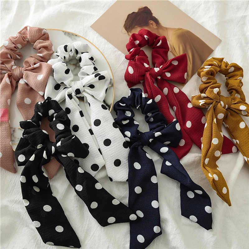 1 шт., Женская резинка для волос, эластичные резинки для волос, богемный принт, конский хвост, шарф, бант, Скручивающиеся головные уборы, головные уборы с бабочкой, аксессуары, модные новые