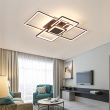 New goods brown/white LED ceiling chandelier for living study bedroom aluminum modern Led