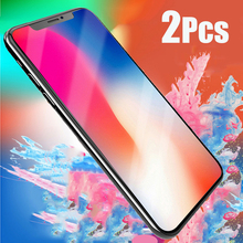 2PCS Tempered Glass for iPhone XS MAX XR 2018 Screen Protector iphone 8 Plus X 6 7 Protection Film