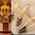 LED Candle Bulb 2W 4W 6W E14 Led Lamp 220V Vintage Edison Filament Light Led Bulbs E12 110V for Indoor Home Chandelier Lighting