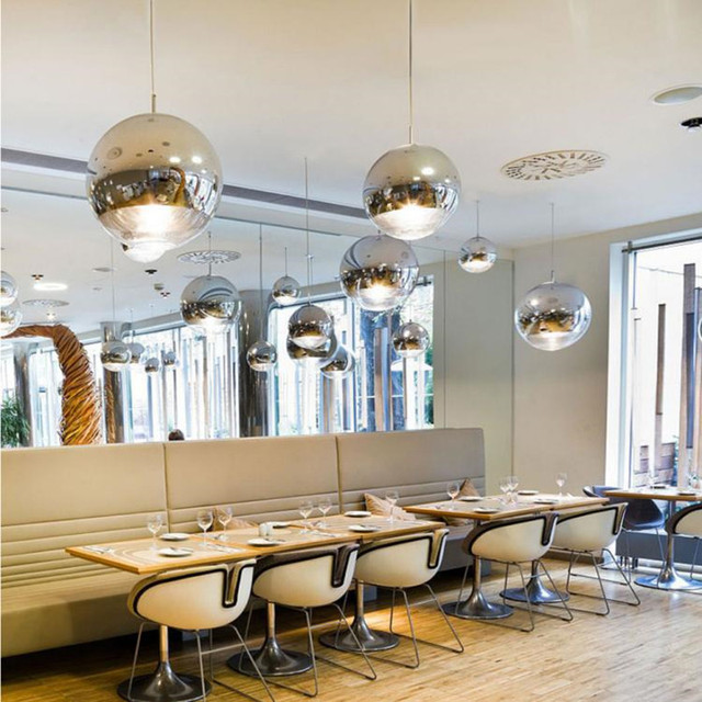 Postmodern Tom Dixon Living Room Pendant Light Art Electroplated Glass  Study Dining Room Hanging Lights Free Shipping-in Pendant Lights from  Lights & ...