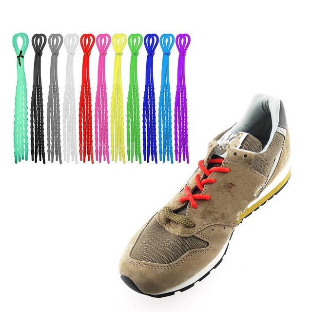 1 paio X-Tie Facile Molle Del Silicone Sport Corde Cavo Corsa e Jogging  Elastico e00a8c99f37