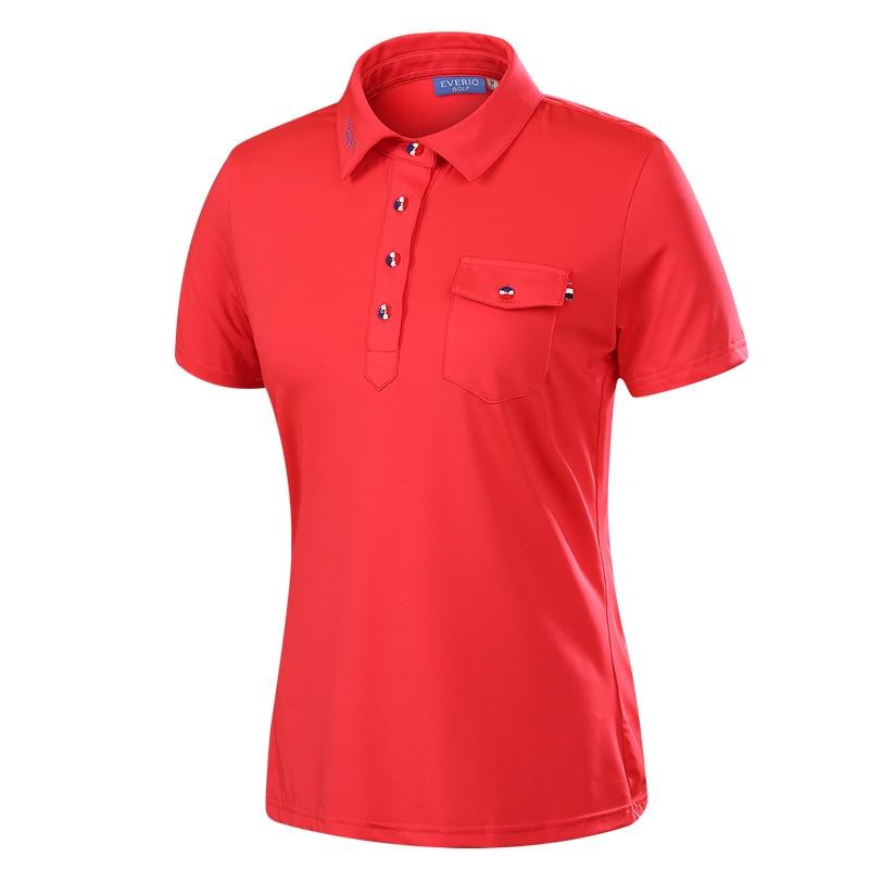 2017 marque femmes de golf chemises à manches courtes sports d'été tissu t-shirt de golf formation vêtements lady sport top vêtements 4 couleurs