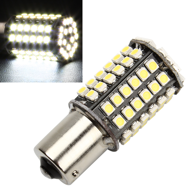 F85 White Car Indicator 1156 3528 Tail Turn Signal 80 SMD LED Bulb Lamp Light BA15S P21W #EA10321 10x car 9 smd led 1156 ba15s 12v bulb lamp truck car moto tail turn signal light white red blue yellow ba15s 1156 aa