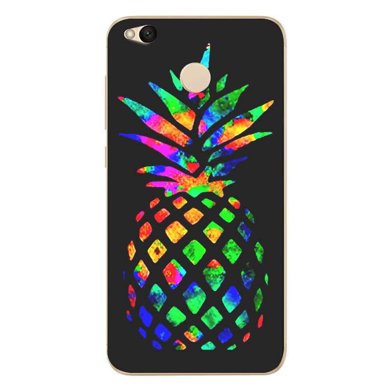 Coque en silicone douce pour ananas TPU coloré pour Xiao mi rouge mi 4X Note 4 4A 3 étui pour Xiao mi A1 Note 4 Pro couverture S134
