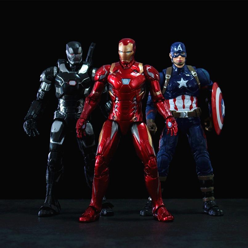Apaffa The Avengers Iron Man War Machine Captain America Winter Soldier Ant-Man Action PVC Figure Giocattoli di Modello Per gli adultiApaffa The Avengers Iron Man War Machine Captain America Winter Soldier Ant-Man Action PVC Figure Giocattoli di Modello Per gli adulti