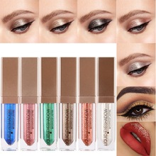 2017 Metal Eyeshadow Glitter Eye Shadow Party Radiant Maquillaje botella Moda Liquid Eye Shadow