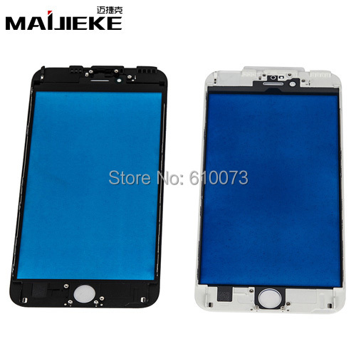 MAIJIEKE Screen Front Glass with Frame For iPhone 7 7plus 6 6S 5 5s Glass Refurbishment parts Outer Glass with Frame Assembly
