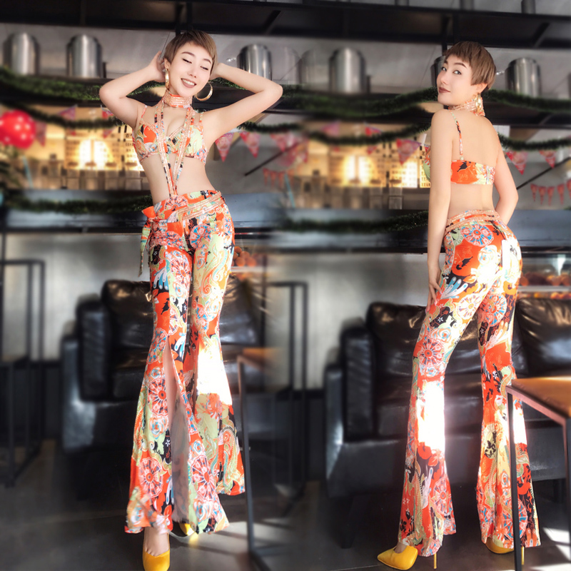 Jazz Dance Costumes Rave Outfit Pole Dance Clothing Sexy Flared Pants Bar Dj Female Singer Suits Nightclub DS Led Costume DN1734-in Chinese Folk Dance from Novelty & Special Use    1