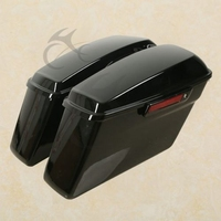 ABS Hard Saddlebags + Latch Keys For Harley Road King Electra Street Glide 14 18