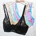 2017 Hot Sexy Fashion New Underwear B C D Cup Coverage Minimizer non padded Lace Sheer Black Bra Size 34C 34D 36C 36D 38C 38D