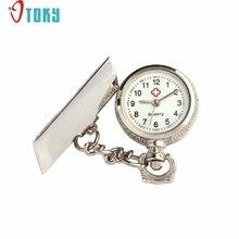OTOKY Hot Unique  Nurse Pocket Fob Watches Unisex Arabic Metal Fibula Nurse White Dial Quartz Pocket Watch Gift Drop ship F15