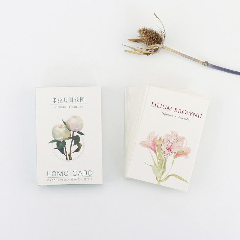 28 Sheets/Set Mirabell Gardens Mini Lomo Postcard /Greeting Card/Birthday Letter Envelope Gift Card Message Card