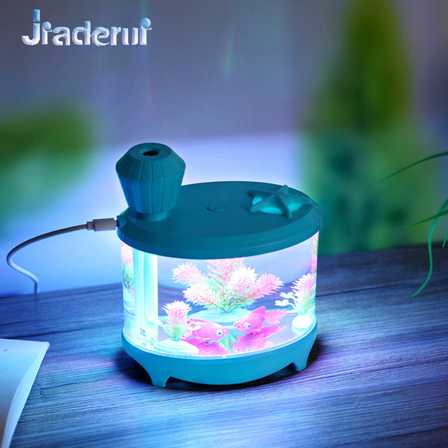 Jiaderui 460ml Baby Room Ultrasonic Cool Mist USB Humidifier with Night Light Whisper-Quiet 8 h Auto ON/OFF for Home Office Desk 1