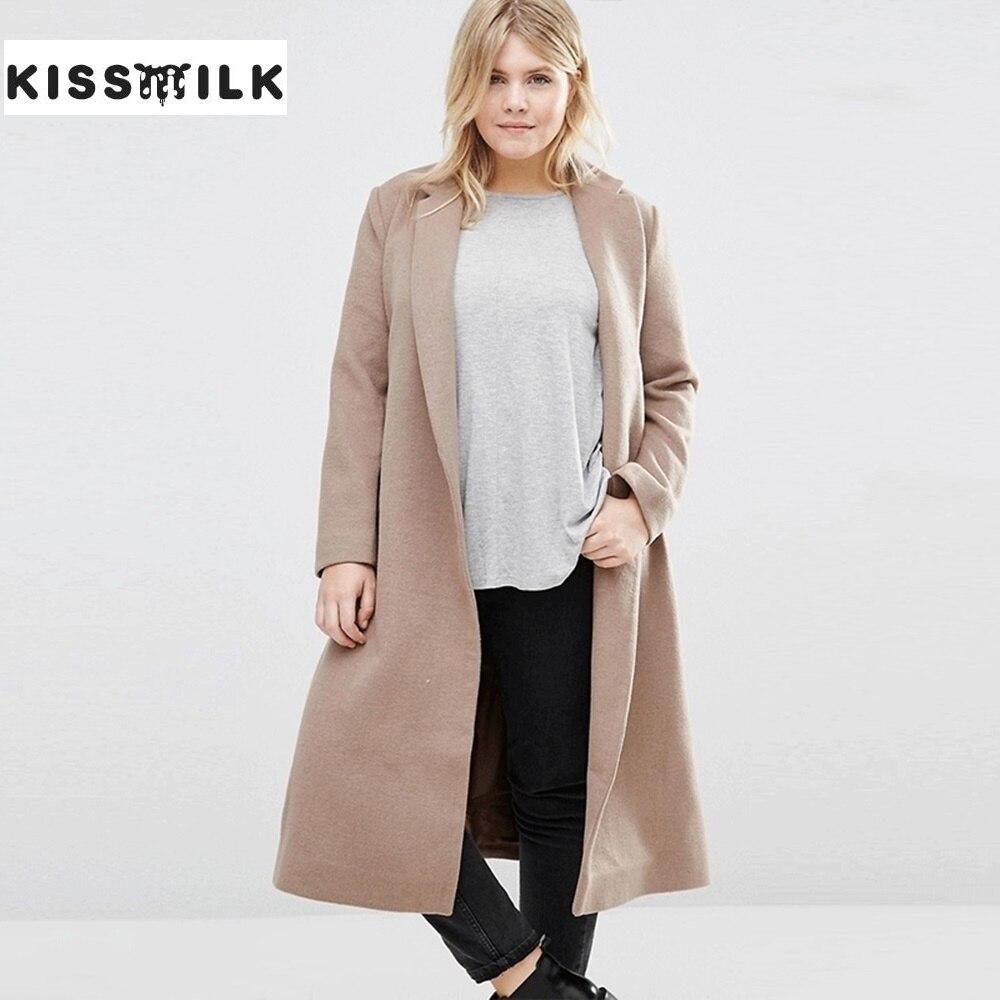 Kiss Milk New Fashion Plus Size Winter font b Coat b font Women OL Wool font
