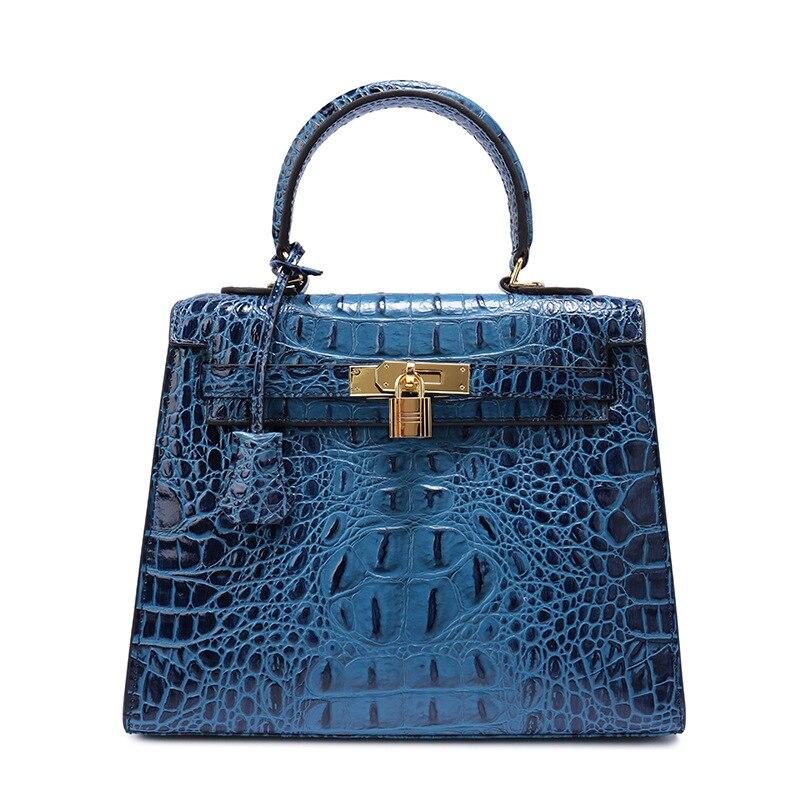 LKPRBD 2018new Crocodile grain design genuine leather women's bag small square handbag messenger bag lkprbd new handbag fashion 100
