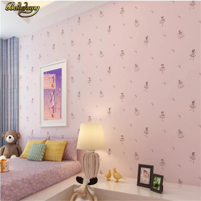 beibehang Cartoon ballet wallpaper children non-woven cartoon wallpaper child wall paper kids wallcovering papel de parede kids beibehang wall paper pune girl room cartoon children s room bedroom shop for environmental non woven wallpaper ocean mermaid