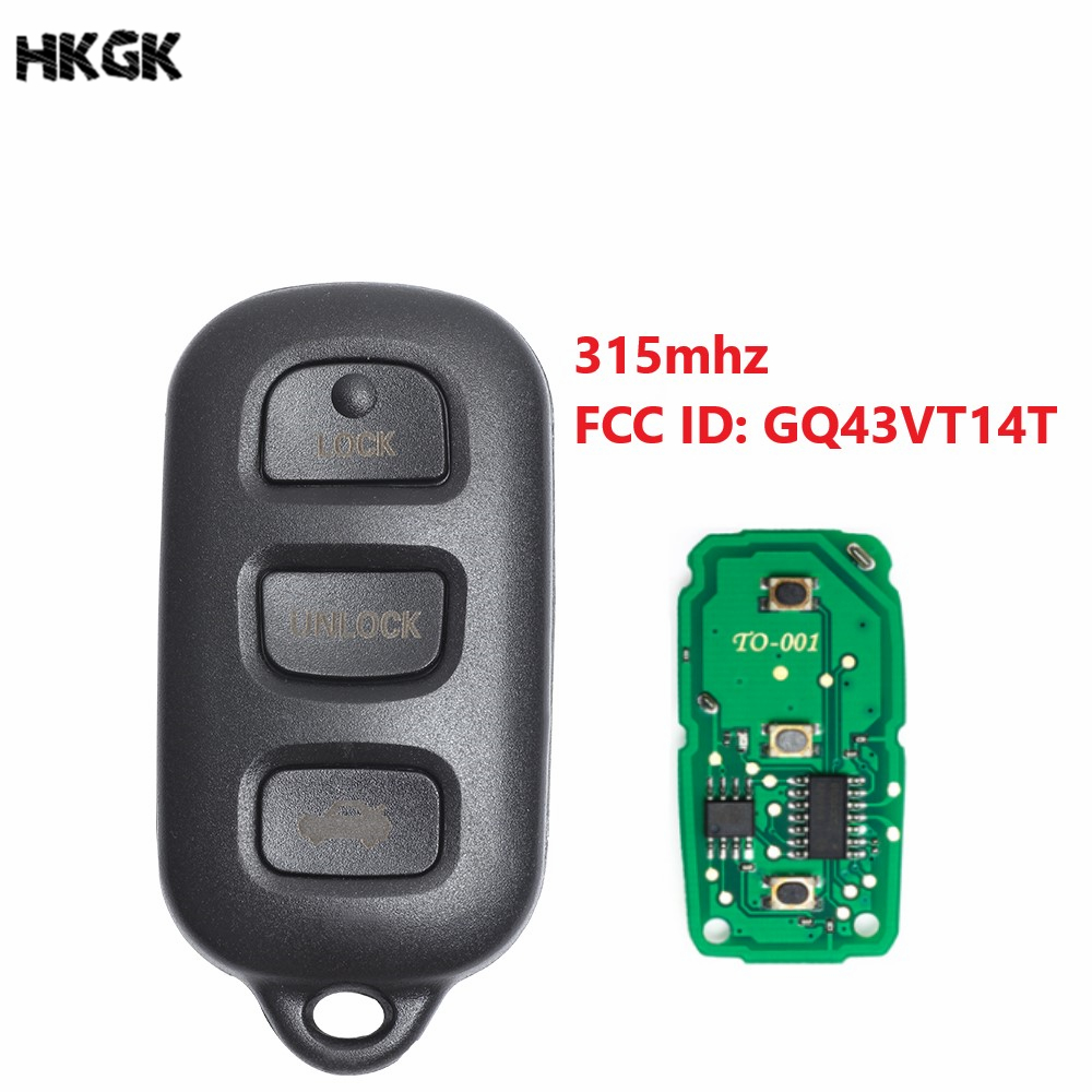 Maxiii Keyless Entry Remote Car Key Fob Compatible for 2007 2008 2009 2010 Toyota Camry,4 Button with Batteries for FCC ID HYQ12BBY