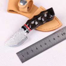 Free shipping High-end The horn handle Damascus straight knife Collect the hunting knife Outdoor tools gift