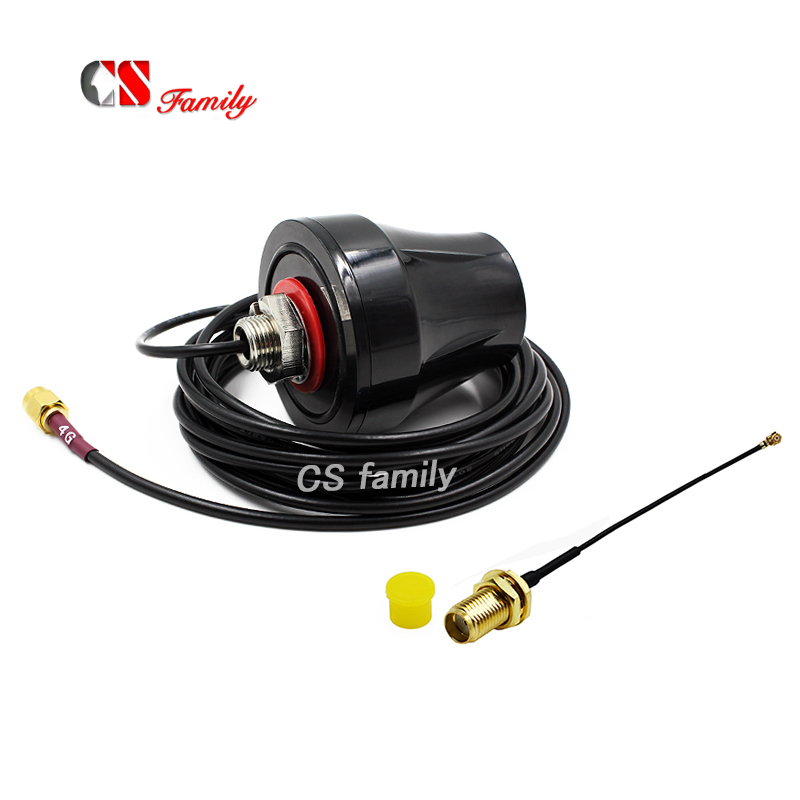 Magnet GSM antenna 3G antenna SMA to IPEX with 1pc ipex to sma cable 100mm