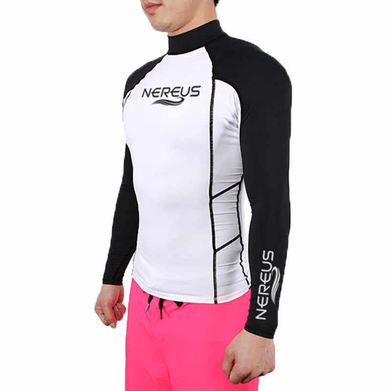 Mannen Lange Mouwen Wetsuit Badmode Surf Shirt Rashguard Duikpak Rash Guard Quick Droog Zon Bescherming Badpak Upf 50 + wind Surf