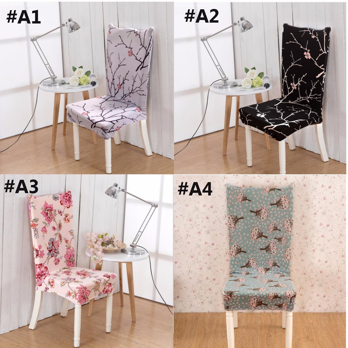 Gedruckt Flat Pad Stuhlabdeckung Abnehmbare Floral Stretch Kurze Esszimmer  Hocker Moderne Anti Schmutzig Stuhlhussen Dekoration