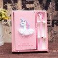 Креативный розовый блокнот для девочек Jonvon Satone с единорогом  блокнот  подарочная коробка в твердом переплете  записная книжка s планировщик...