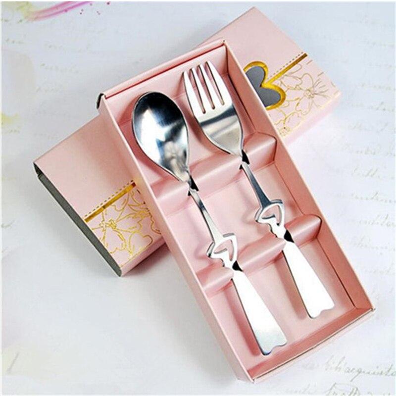 Portable Stainless Steel Coffee Fork Spoon Suit Tableware