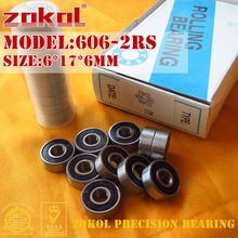 ZOKOL bearing 606 2RS Miniature  Deep Groove ball bearing 6*17*6mm