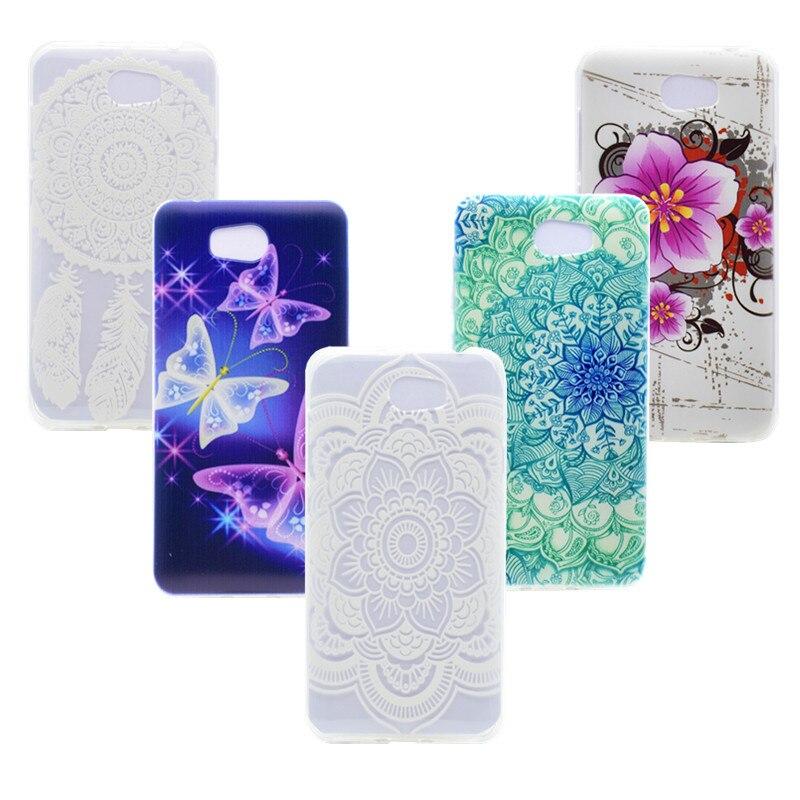 Silicone Case For Huawei Y3 II Y6 II Y5 2 Coque Flower Butterfly Phone Cover  Gel ForHuawei Y3 ll
