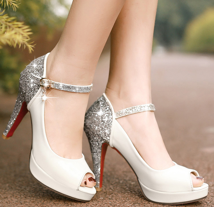cheap for discount 1110f aa8bf 2015 Sexy Women High Heels Red Bottom Wedding Shoes Summer ...