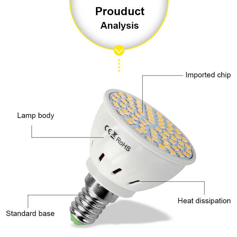 بقيادة الأضواء GU10 E27 MR16 LED المصباح الكهربي 220 V 48 60 80 المصابيح 2835 SMD الدافئة الأبيض الباردة الأبيض ضوء للمنزل Lampada LED الإضاءة